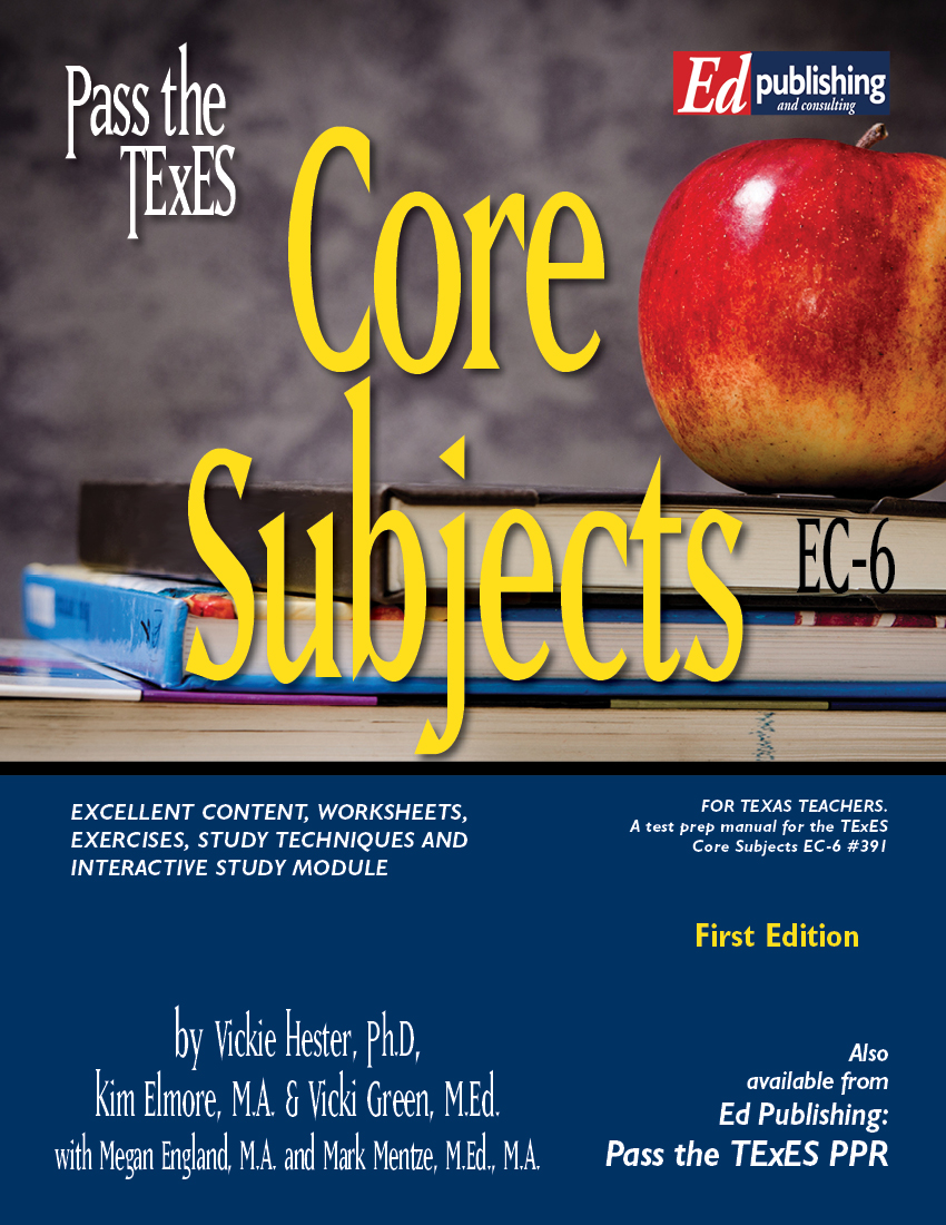 Core Sub EC-6 1st Ed Book for #391 [HARD COPY]