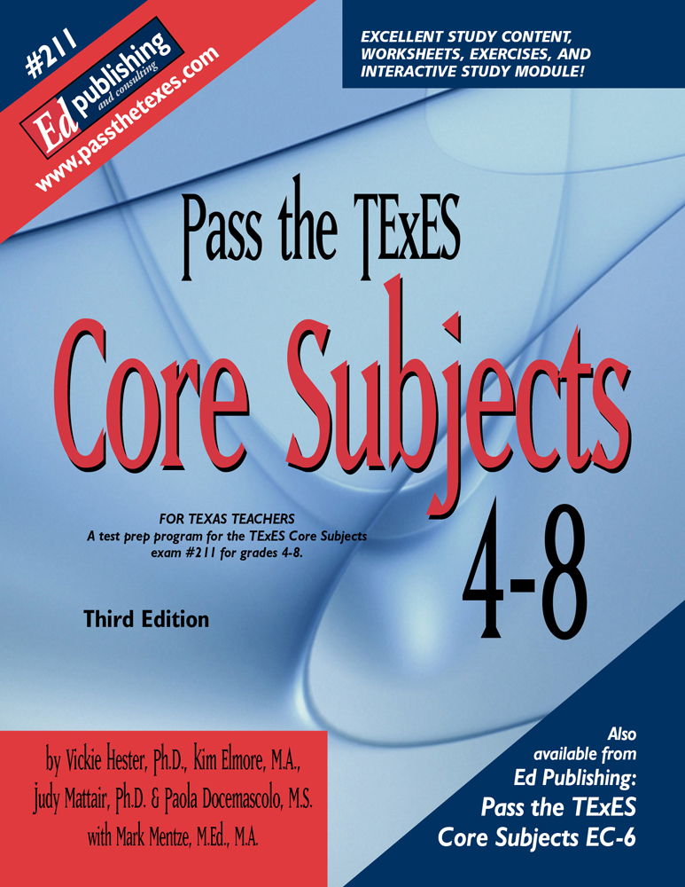Core Subjects 4-8, 3rd Ed for #211 [DOWNLOADABLE EBOOK ]
